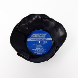 Rolling Stones ♻️🎶 Upcycled Vinyl Record Bowl